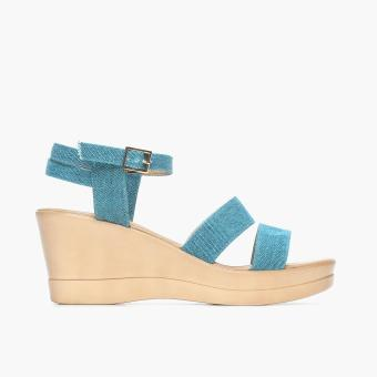 Parisian Basic Ladies nil Wedge Sandals (Blue) Price Philippines