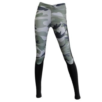 Harga Women Lady Stretchy Camouflage Printed Colorful Graphic Fashion Running YOGA Leggings Pants Trousers Tights Comfort Fit Casual Skinny Basic Patchwork Size XL - intl