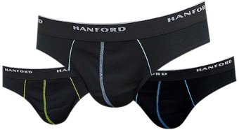 Harga Hanford Men's Modern Brief with Contrast Stitch Low Rise Briefs