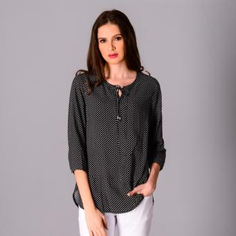 Harga Redgirl Quarter Sleeves Woven Blouse RLT04-3021 (Black)