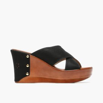 Harga Parisian Ladies Naya Wedge Sandals (Black)