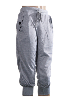 Harga LALANG Man 3/4 Hiphop Sweatpants Grey