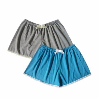 Ayla Intimates Set of Grey and Blue Women's Boxer Shorts Price Philippines