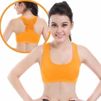Harga Treeco Fitness Seamless Active Sports Bra (Orange)