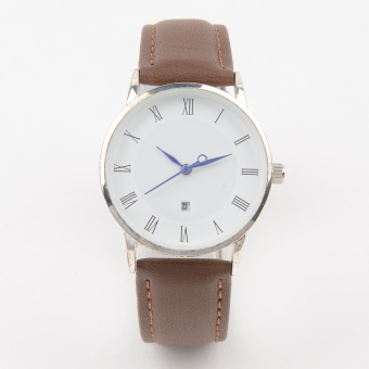 OEM Casual Unisex Brown Leather Strap Watch OEMSSBR (Multiple Sizes) Price Philippines