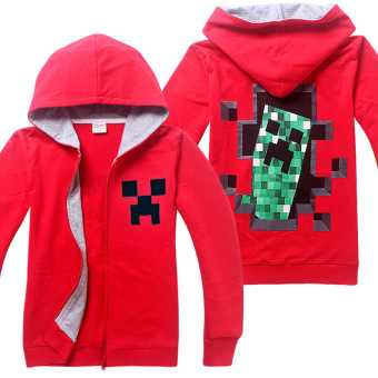 Harga 'Minecraft Boys'' 4-14 Years Old Fashion Thin Cotton Sweaters(Color:Red) - intl'