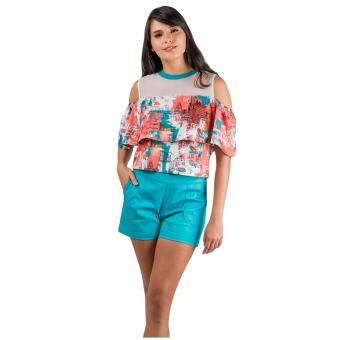 Harga Plains & Prints Lemuel Short Sleeves Top (Multi)