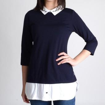 Harga Redgirl Quarter Sleeves Blouse Rgt12-0406 (Navy/White)