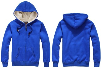 Harga Plain Royal Blue hoodie jacket fleece