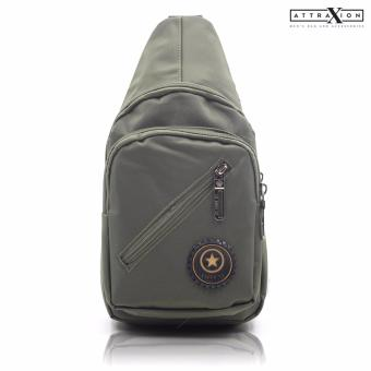 Attraxion Aaron - 0125 Sling Crossbody Bag for Men (Army Green) Price Philippines