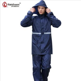 Impermeable Raincoat Women/Men Suit Rain Coat Outdoor Women HoodMotorcycle Raincoat Camping Fishing Rain Gear Poncho - intl