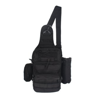Innturt Tactical Mollie Sling Bag Shoulder Messenger Backpack Multi-functions (Black)