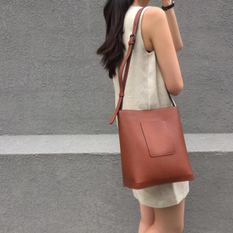 INS New style shoulder women's bag Jianyue big bag (Brown)