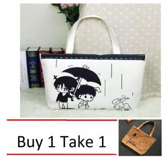 Isabel K001 Trendy Canvas Tote Bag Buy 1 Take 1 (Couple)