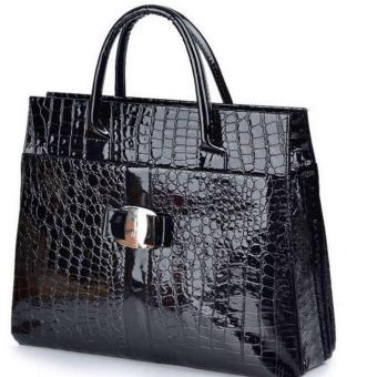 Isabel K035 Trendy Hand Bag (Black)