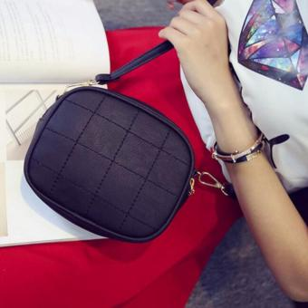Isabel K055 Fancy Shoulder Crossbody Bag (Black)