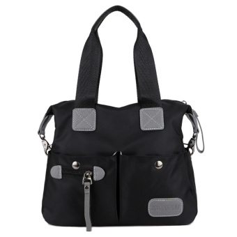 Japan and South Korea shoulder portable cross-body big bag New style women's bag (Black-small) (Black-small)