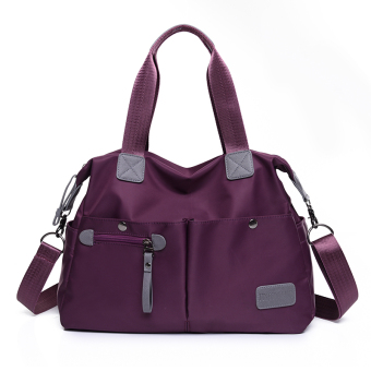 Japan and South Korea shoulder portable cross-body big bag New style women's bag (Purple large) (Purple large)