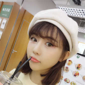 Japanese-style autumn student cute hat (Off-white color)