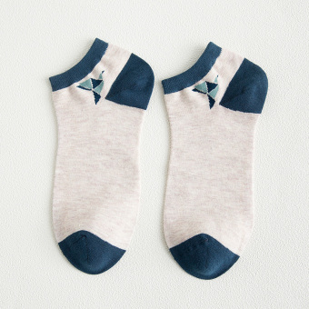 Japanese-style Four Seasons striped thin no-show socks Mi Bao (QZHIHE)