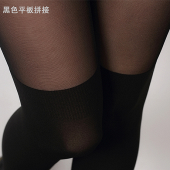 Japanese-style silk anti-hook stockings socks pantyhose (Black flat stitching)