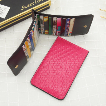 Jianyue business Thin Men card holder credit card package (Rose color)