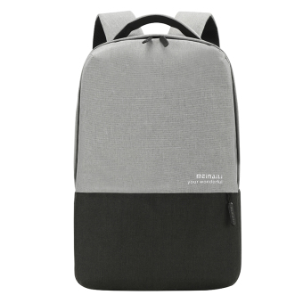 Jianyue contrasting color backpack (Black)