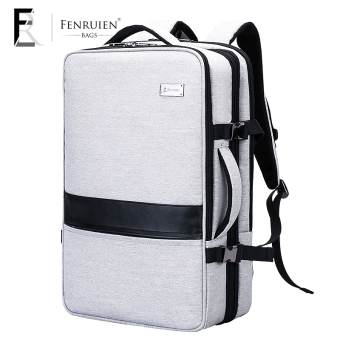 Jianyue large capacity travel portable hand luggage bag business backpack (Gem gray)