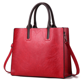 Jianyue large capacity women shoulder large bag women's bag (Red)