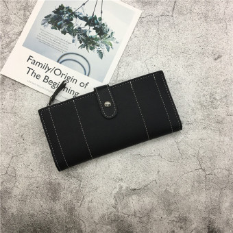 Jianyue New style Japanese and Korean style women's wallet (Black)