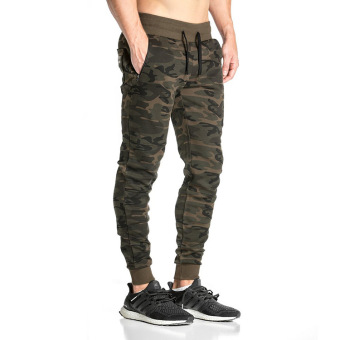 Jirouxiongdi Slim fit skinny casual pants men sweatpants