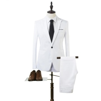 JOY Korea Korean fashion Business suit two piece suit White - intl