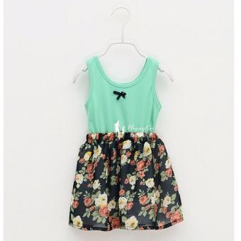Kids Dress Cotton Floral Toddler Dress Casual Sleeveless Dress CureFashion Dress