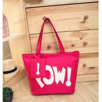 Korean Style B-002 Waterproof Nylon Women 2 Pieces Large Capacity Shopping Tote Bag with
