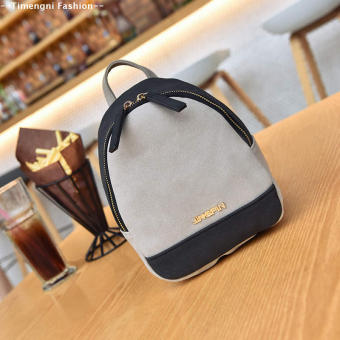 Korean-style female New style contrasting color small bag mini shoulder bag (Color black)