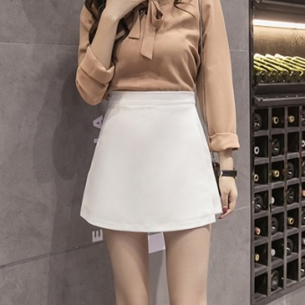 Korean-style Female Summer New style skirt culottes (White)