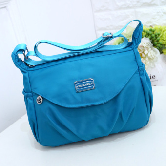 Korean-style New style cloth bag waterproof nylon bag (Sky blue color)