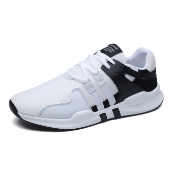 Korean-style running trendy shoes athletic shoes (2267 black and white)