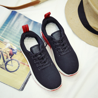 Korean-style Spring and Autumn New style women shoes sports shoes (Black)