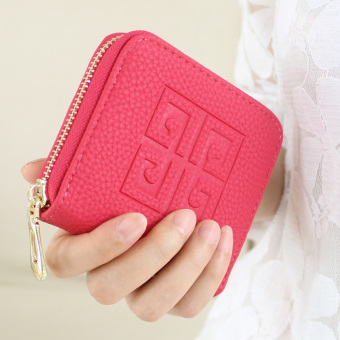 Korean-style spring and female small purse women's wallet (Rose color) (Rose color)