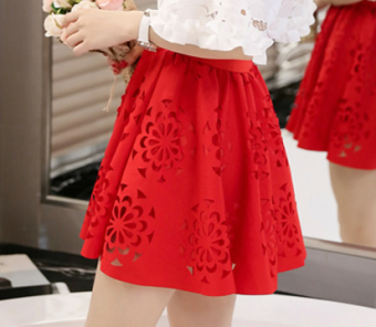 Korean-style Summer Student Tutu dress (Red skirt)