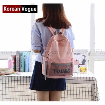 KOREAN VOGUE KV7003 Young Style Women Backpack Ladies Bag (Pink)