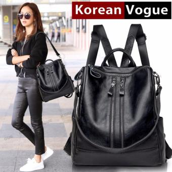 KOREAN VOGUE KV8002 -2 Pu Leather Women Casual Ladies Backpack Bag