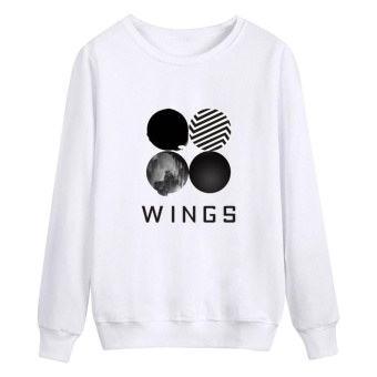 Kuhong Kpop Korean Fashion BTS Bangtan Boys 2ND Album WINGS HoodiesClothes Sweatshirt White - intl
