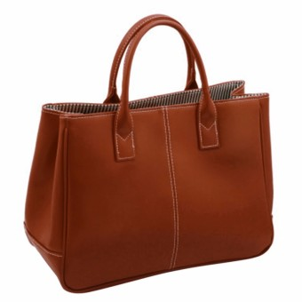 leather candy-colored shoulder bag-brown