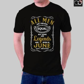 Legends are Born in June T-shirt for Men (Black)