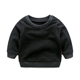 Long-sleeved newborns Top (Black stitching hoodie)