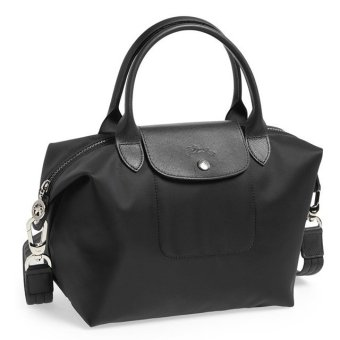 Longchamp Le Pliage Neo Small Nylon Tote Bag (Black)