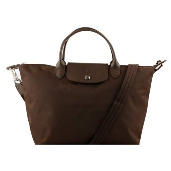 Longchamp Le Pliage Neo Small Nylon Tote Bag (Brown)