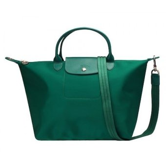 Longchamp Le Pliage Neo Small Nylon Tote Bag (Emerald Green)